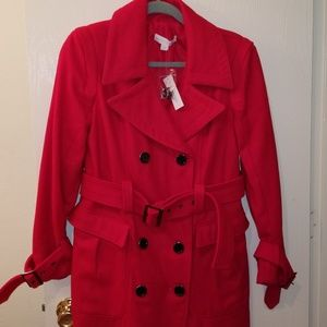 Belted Trench Style Winter Coat
